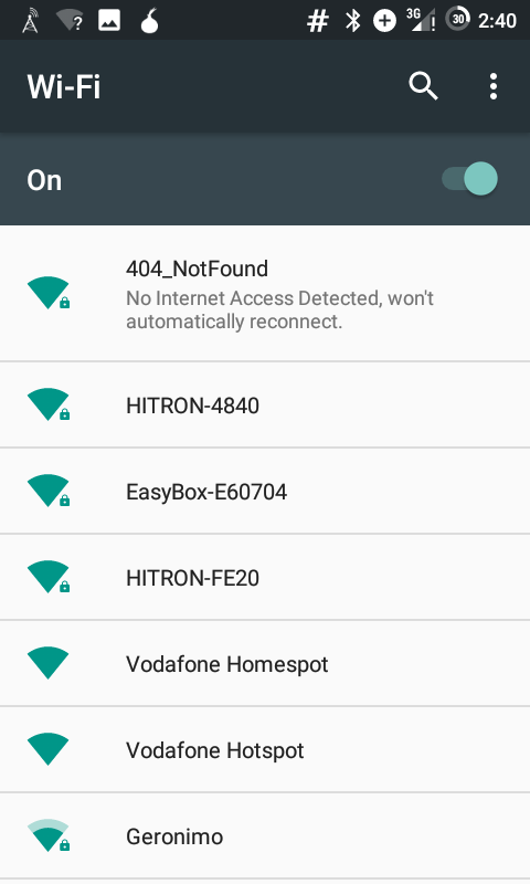Android: No Internet Access Detected, won't automatically reconnect.
