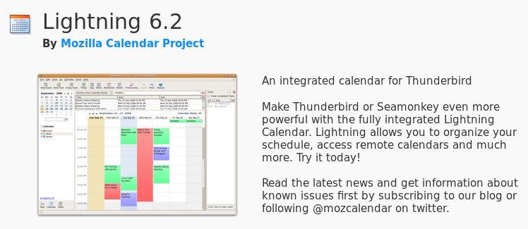 Lightning is a calendar plugin for Thunderbird.